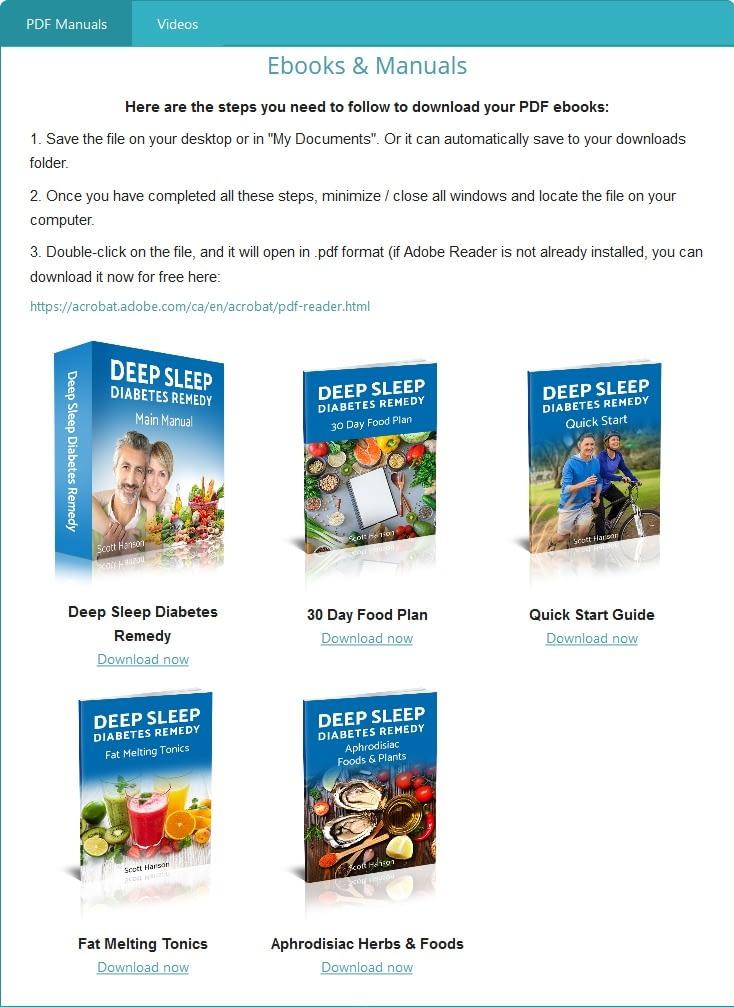 Deep Sleep Diabetes Remedy members' area